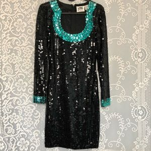 80s Sequin Mini Dress